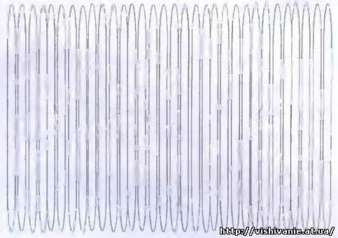 Стежок переплетения - схема вышивки